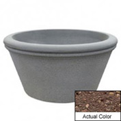 Wausau TF4309 Round Outdoor Planter - Weatherstone Brown 72x38