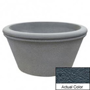 Wausau TF4309 Round Outdoor Planter - Weatherstone Charcoal 72x38