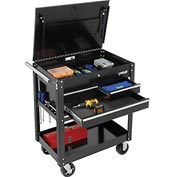 "Waterloo SP-UC3BK 34""  3-Drawer Utility Cart - Black"