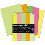 "Neenah Paper Astrobrights Colored Paper 20270, 8-1/2"" x 11"", Neon Assorted, 500 Sheets/Ream"