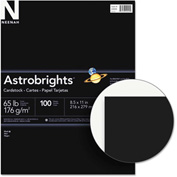 "Neenah Paper Astrobrights Colored Card Stock 2202401, 8-1/2"" x 11"", Eclipse Black™, 100/Pack"