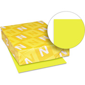 "Neenah Paper Astrobrights Colored Card Stock 22791, 8-1/2"" x 11"", Sunburst Yellow™, 250/Pack"