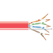 Wavenet 6E04URRD, Network Cable, PVC, CAT 6E, 550 MHz, 1000 Ft Red