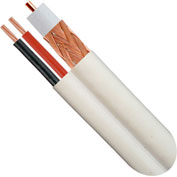 Wavenet H59+182BCRWH2-SM, RG59/U Siamese Coaxial Cable, 1000 Ft White