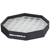 Bloomfield 4J-8855-1 Drip Tray For Wire Stands, Black Plastic Grate