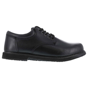 Grabbers® G1120 Men's Plain Toe Oxford, Black, Size 10.5 W
