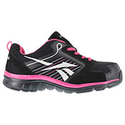 Reebok® RB454 Women's Sports Series Athletic Shoes, Black & Pink w/ Silver Trim, Size 4 M