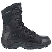 "Reebok® RB8874 Men's Stealth 8"" Boot With Side Zipper, Black, Size 3.5 M"