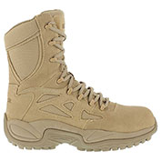 "Reebok® RB8894 Men's Stealth 8"" Boot With Side Zipper, Desert Tan, Size 10 W"