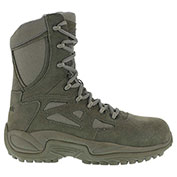 "Reebok® RB8990 Men's Stealth 8"" Boot With Side Zipper, Sage Green, Size 10 W"
