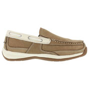 Rockport® RK673 Women's Sailing Club Slip On Boat Shoe, Tan & Cream, Size 7.5 M
