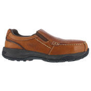 Rockport® RK6748 Men's Twin Gore Moc Toe Casual Slip On Shoes, Brown, Size 8.5 W