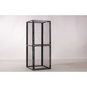 """WireCrafters RapidWire Double Tier Locker, Without Ceiling, Add-On Unit, 36""""W x 36""""D x 90""""H, Gray"""