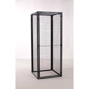 "WireCrafters RapidWire Welded Mesh 10 Gauge Locker Back Panel, 48""W x 90""H, Gray"