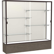 "Reliant Display Case Walnut Vinyl Base, Dark Bronze Frame, Fabric Back 72""W x 72""H"