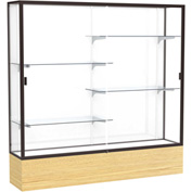 "Reliant Display Case Light Oak Vinyl Base, Dark Bronze Frame, White Back 72""W x 72""H"
