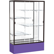 "Spirit Display Case Purple Base, Bronze Frame, Mirror Back 48""W x 16""D x 72""H"