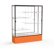 "Spirit Display Case Orange Base, Bronze Frame, Mirror Back 60""W x 16""D x 72""H"