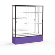 "Spirit Display Case Purple Base, Bronze Frame, Mirror Back 60""W x 16""D x 72""H"