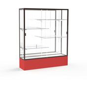"Spirit Display Case Red Base, Bronze Frame, Mirror Back 60""W x 16""D x 72""H"