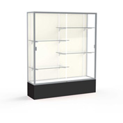 "Spirit Display Case Black Base, Satin Frame, Fabric Back 60""W x 16""D x 72""H"