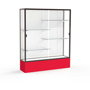 "Spirit Display Case Red Base, Bronze Frame, White Back 60""W x 16""D x 72""H"