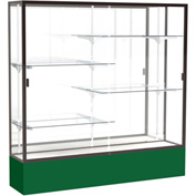 "Spirit Display Case Forest Green Base, Bronze Frame, Mirror Back 72""W x 72""H"