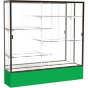 "Spirit Display Case Kelly Green Base, Bronze Frame, Mirror Back 72""W x 16""D x 72""H"