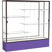 "Spirit Display Case Purple Base, Bronze Frame, Mirror Back 72""W x 16""D x 72""H"