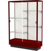 "Heritage Display Case Cordovan, Fabric Back 48""W x 18""D x 70""H"