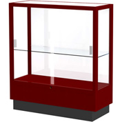 "Heritage Display Case Cordovan, White Back 36""W x 14""D x 40""H"
