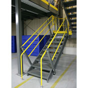 """Wildeck® OSHA Stair Closed Tread With Open Riser 36"""" Wide,  9' Clearance"""