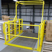 "Wildeck® Pivot Safety Gate, Field Adjustable From 109' -1/8"" To 25-1/2"" Interior Width"