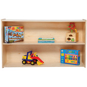 Wood Designs™ Stationary Shelf Storage - Fully Assembled