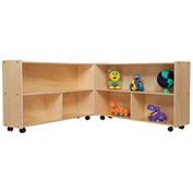 "Mobile Folding Versatile Storage, Assembled, 93-1/2""W x 12""D x 28-3/4""H"