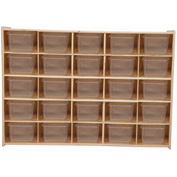 "25 Tray Cubby Storage, Assembled w/Clear Trays, 46-3/4""W x 12""D x 33-7/8""H"