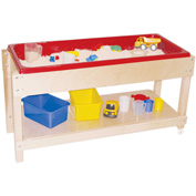 Wood Designs™ Sand and Water Table with Top and Shelf