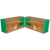 "Green Apple Folding Versatile Storage Unit, 24""H"