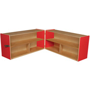 "Strawberry Red Folding Versatile Storage Unit, 24""H"