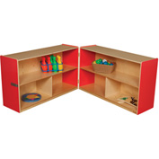 "Strawberry Red Folding Versatile Storage Unit, 30""H"