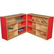 "Strawberry Red Folding Versatile Storage Unit, 36""H"