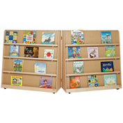"""Wood Designs™ Folding Double Sided Book Display 48""""H"""