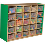 Green Apple 25 Tray Storage with Clear Trays