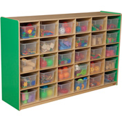Green Apple 30 Tray Storage with Clear Trays