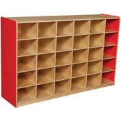 Strawberry Red 30 Tray Storage without Trays