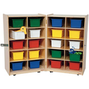 Folding Vertical Storage with Twenty Assorted Trays