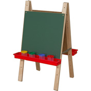 Wood Designs Tot Size Double Chalkboard Easel