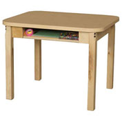 Wood Designs Classroom High Pressure Laminate Desk with Hardwood Legs & Bookbox 20""