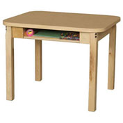 Wood Designs Classroom High Pressure Laminate Desk with Hardwood Legs & Bookbox 24""