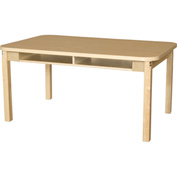 Wood Designs Two Seater Classroom High Pressure Laminate Desk with Hardwood Legs & Bookbox 20""